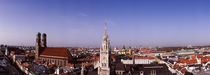 Cathedral in a city, Munich Cathedral, Munich, Bavaria, Germany von Panoramic Images
