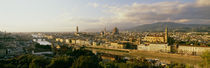 The Duomo & Arno River Florence Italy by Panoramic Images