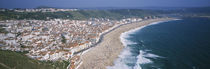 High angle view of a town, Nazare, Leiria, Portugal by Panoramic Images