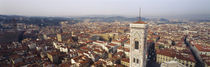 Aerial view of a city, Florence, Tuscany, Italy by Panoramic Images
