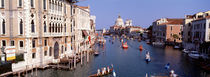 High angle view of gondolas in a canal, Grand Canal, Venice, Italy by Panoramic Images