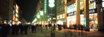 Buildings in a city lit up at night, Munich, Germany von Panoramic Images