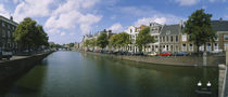 Buildings along a canal, Haarlem, Netherlands von Panoramic Images