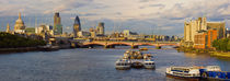 St. Paul's Cathedral, Thames River, London, England by Panoramic Images