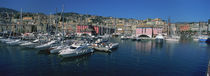 Boats at a harbor, Porto Antico, Genoa, Italy by Panoramic Images