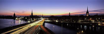 High angle view of traffic on a highway, Stockholm, Sweden von Panoramic Images