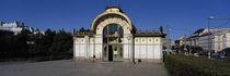 Entrance of a railroad station, Karlsplatz, Vienna, Austria von Panoramic Images