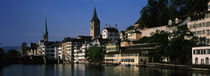 Buildings at the waterfront, Limmat River, Zurich, Switzerland by Panoramic Images
