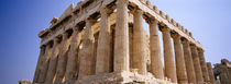 Old ruins of a temple, Parthenon, Acropolis, Athens, Greece von Panoramic Images