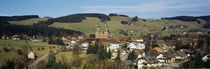 High angle view of a town, St. Peter, Schwarzwald, Germany von Panoramic Images