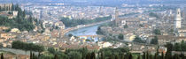 High Angle View Of A City, Verona, Veneto, Italy by Panoramic Images