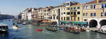 High angle view of a canal, Grand Canal, Venice, Italy by Panoramic Images
