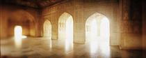 Interiors of a hall, Agra Fort, Agra, Uttar Pradesh, India von Panoramic Images