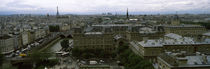 Cityscape viewed from the Notre Dame, Paris, Ile-de-France, France von Panoramic Images