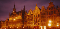Facade of a building, Grand Palace, Brussels, Belgium by Panoramic Images