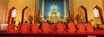 Monks, Benchamapophit Wat, Bangkok, Thailand by Panoramic Images