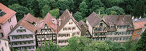 High angle view of buildings in a town, Tubingen, Baden-Württemberg, Germany von Panoramic Images