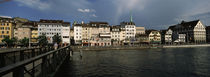Bridge across a river, Limmat River, Zurich, Switzerland by Panoramic Images