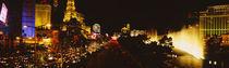 Buildings lit up at night, Las Vegas, Nevada, USA von Panoramic Images