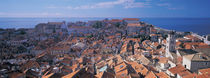 High angle view of a city, Dubrovnik, Croatia by Panoramic Images