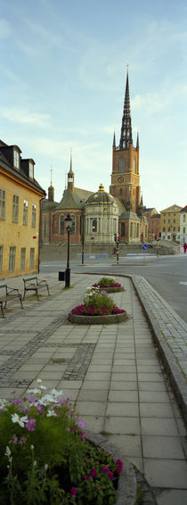 Spire of a church, Riddarholm Church, Riddarholmen, Stockholm, Sweden by Panoramic Images