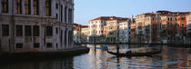 Gondola in a canal, Grand Canal, Venice, Italy von Panoramic Images