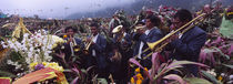 Musicians Celebrating All Saint's Day By Playing Trumpet, Zunil, Guatemala von Panoramic Images