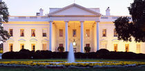 USA, Washington DC, White House, twilight by Panoramic Images
