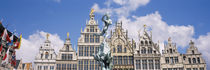 Low angle view of buildings, Grote Markt, Antwerp, Belgium by Panoramic Images