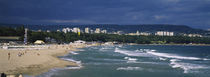High angle view of tourists on the beach, Black Sea, Varna, Bulgaria von Panoramic Images
