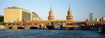 Bridge on a river, Oberbaum Brucke, Berlin, Germany by Panoramic Images