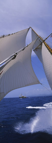Low angle view of a sailboat's mast von Panoramic Images