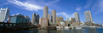 Skyscrapers at the waterfront, Boston, Massachusetts, USA by Panoramic Images