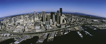 Aerial view of a city, Seattle, Washington State, USA von Panoramic Images