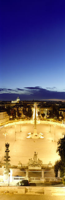 Piazza del Popolo, Rome, Italy by Panoramic Images
