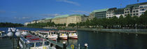 Buildings on the waterfront, Alster Lake, Hamburg, Germany by Panoramic Images