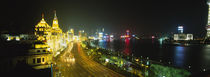 Buildings Lit Up At Night, The Bund, Shanghai, China by Panoramic Images