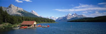 Canada, Alberta, Maligne Lake by Panoramic Images