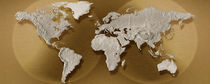 Close-up of a world map von Panoramic Images