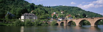 Arch bridge across a river, Neckar River, Heidelberg, Baden-Wurttemberg, Germany by Panoramic Images