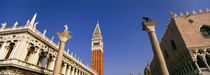 Low angle view of a bell tower, St. Mark's Square, Venice, Italy von Panoramic Images