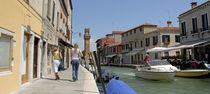 Boats in a canal, Murano, Venice, Italy von Panoramic Images