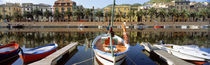 Italy, Sardinia, Bosa, Boats moored on the dock von Panoramic Images