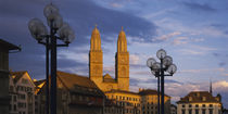 Low angle view of a church, Grossmunster, Zurich, Switzerland by Panoramic Images