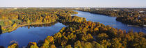 High angle view of a forest, Wenner-Gren Center, Brunnsviken, Stockholm, Sweden by Panoramic Images