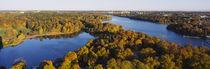 High angle view of a forest, Wenner-Gren Center, Brunnsviken, Stockholm, Sweden von Panoramic Images