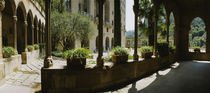Porch of a building, Montserrat, Barcelona, Catalonia, Spain by Panoramic Images