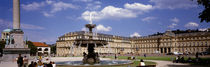 Fountain in front of a palace, Schlossplatz, Stuttgart, Germany by Panoramic Images