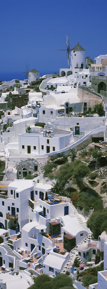 High angle view of a town, Oia, Santorini, Cyclades Islands, Greece von Panoramic Images