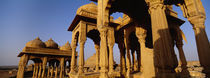 Low angle view of monuments at a place of burial, Jaisalmer, Rajasthan, India by Panoramic Images